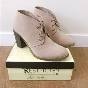 Restricted Shoes - [Francesca's] Faux Suede Penny Booties